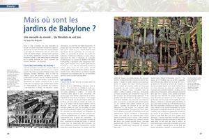 mais o sont les jardins de babylone histoire antique n 23. Black Bedroom Furniture Sets. Home Design Ideas